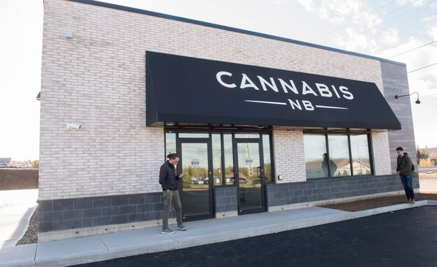 The exterior of a Cannabis NB location in Fredericton, N.B., Oct. 16,