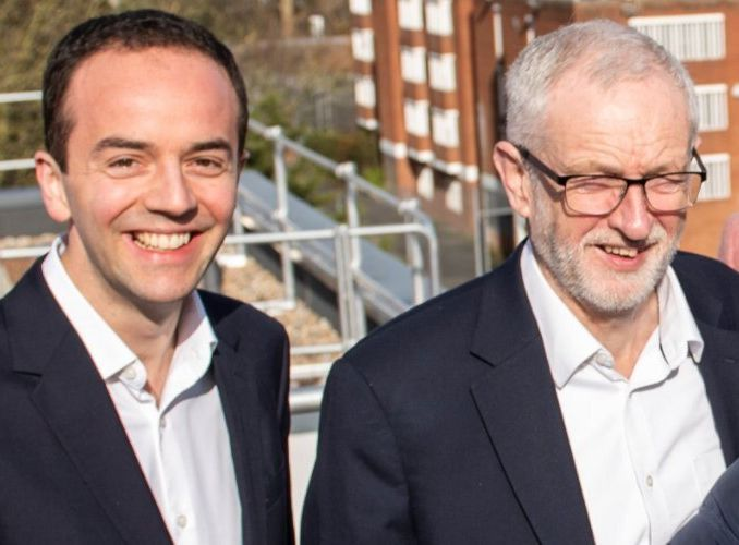 London's deputy mayor for housing James Murray, left, with Labour leader Jeremy Corbyn. Murray is Labour's...