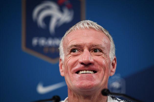 Les Bleus qualifiés pour l'Euro 2020 (sans jouer) (ici Didier Deschamps le 13 novembre