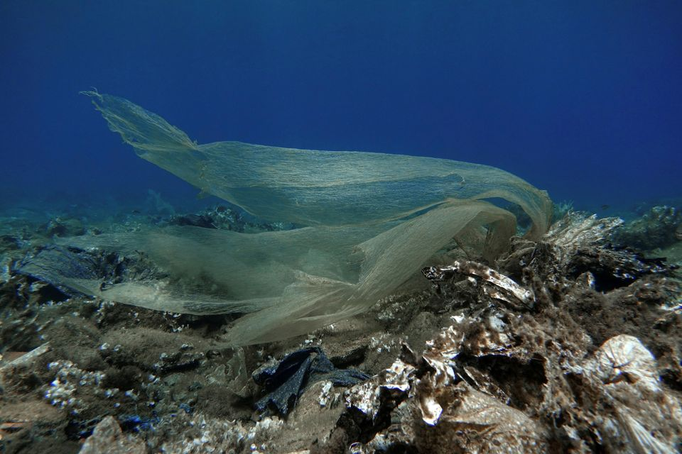 Plastic waste found at the bottom of the sea in