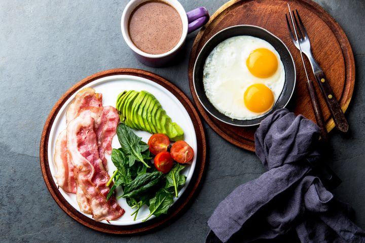 Café da manhã na dieta low carb.