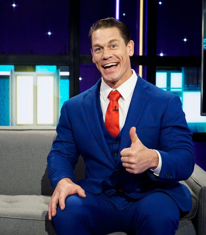 John Cena, the face of a man with a constant sugar high.