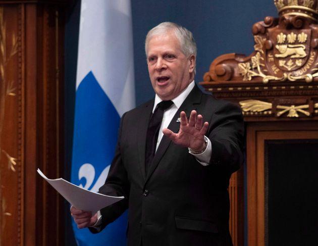 Le président de l'Assemblée nationale, François Paradis a eu du mal à tempérer...