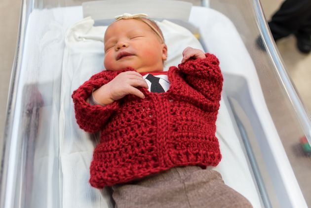 Hospital Surprises Mister Rogers Wife By Dressing Babies In Tiny Cardigans And Ties Huffpost