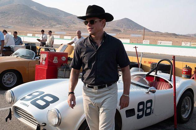 Matt Damon é Carroll Shelby, umex-piloto e projetista esperto de fala mansa que dobraHenry...