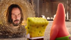 Keanu Reeves Makes Extremely Bizarre Cameo In New SpongeBob Movie