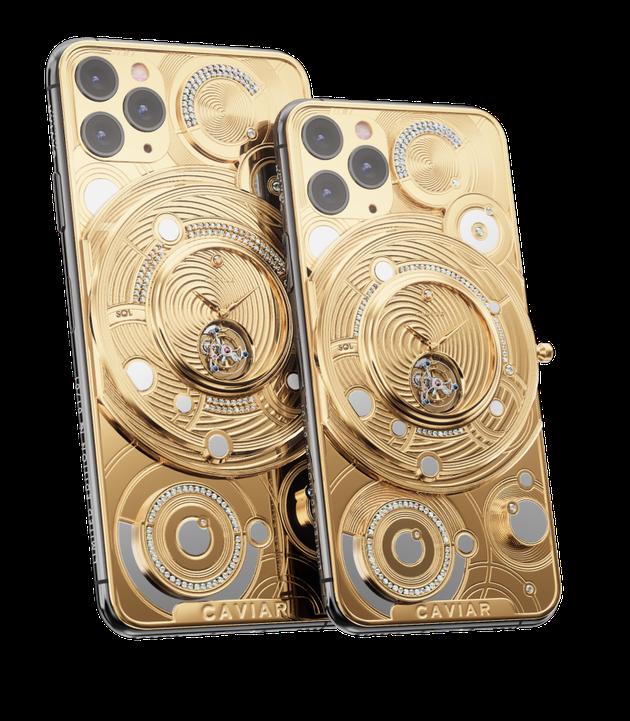 금과 다이아몬드로 개조된 아이폰11