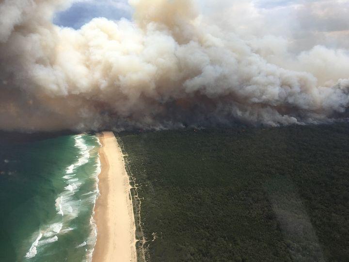 Bushfires rage across NSW's east coast.