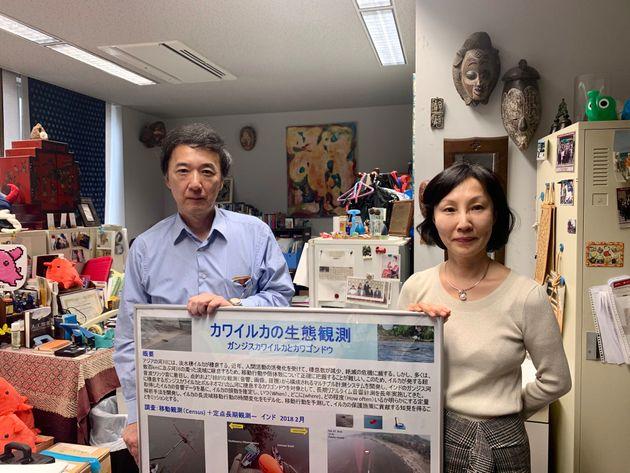 KDDI総合研究所の小島淳一さんと東大生産技術研究所の杉松治美研究員