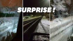 La neige a surpris le sud-est en plein mois de