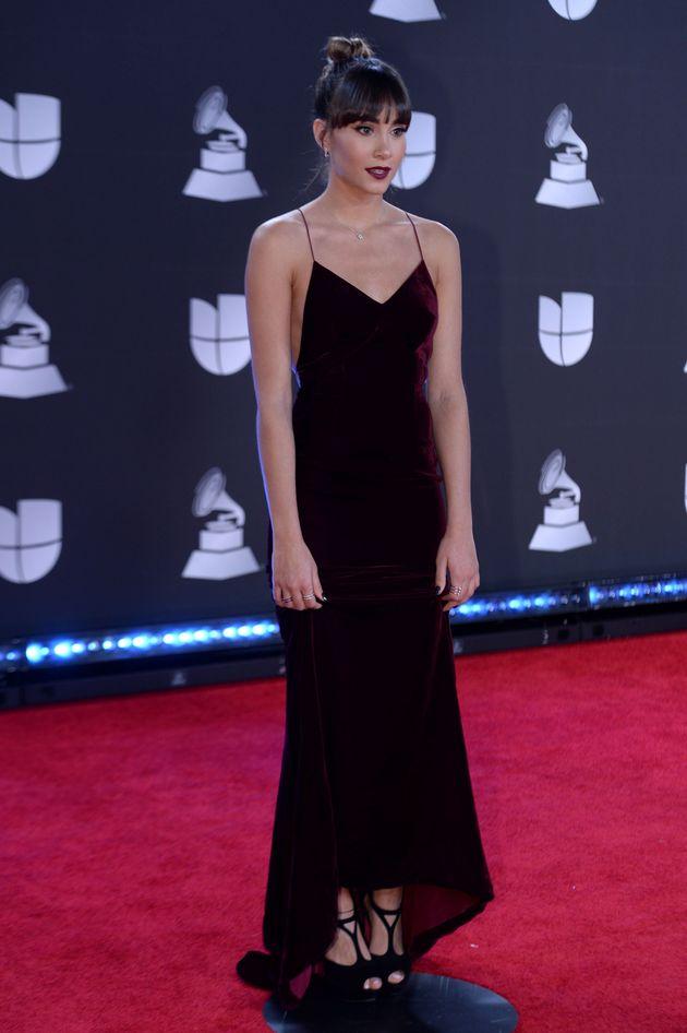 La cantante Aitana, en los Grammy
