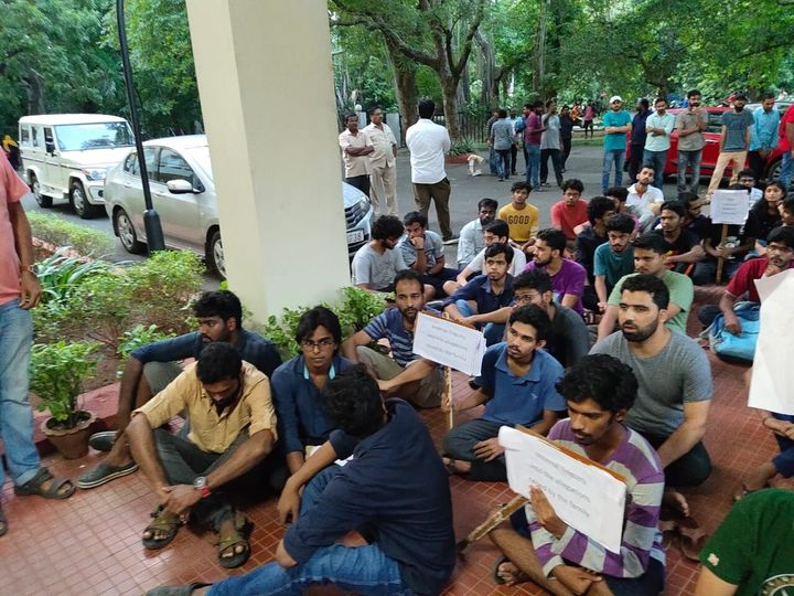 Student bodies sent a petition to the director of IIT-Madras, demanding implementation of SLC resolution and staged protests on campus.