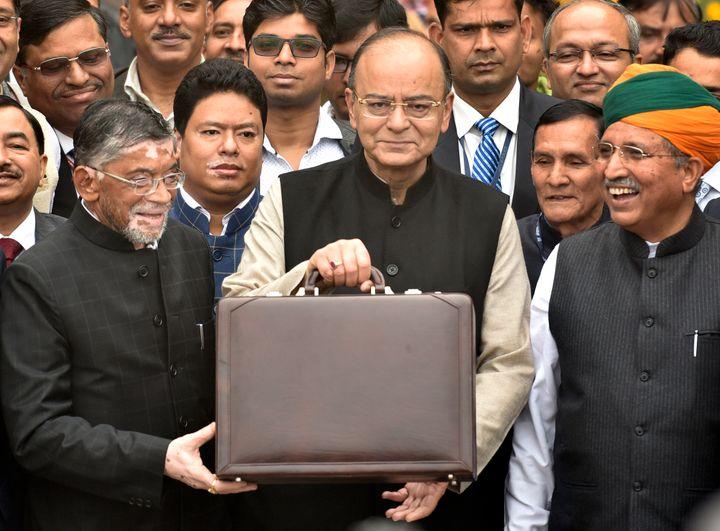 Arun Jaitley ahead of the Union Budget 2017 presentation on 1 February, 2017, in New Delhi.