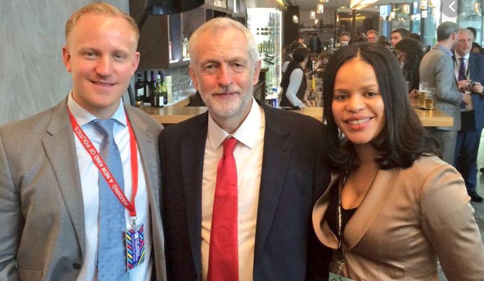 Sam Tarry, Jeremy Corbyn and Claudia