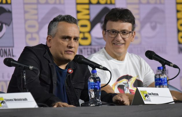 Joe Russo, left, and Anthony Russo participate in a conversation with the Russo Brothers on day two of...