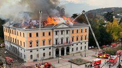 La mairie d'Annecy en partie détruite par un