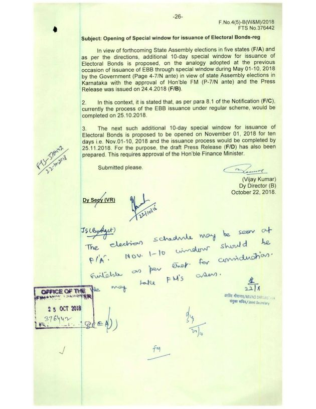 A Finance Ministry document, obtained under the RTI Act, explicitly tying the additional sale of bonds...