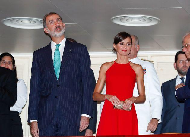 La reina Letizia, durante el viaje de estado a
