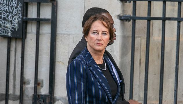 Segolene Royal at the funeral of Jacques Chirac on September 26 at