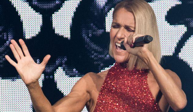 Céline Dion au lancement de la tournée pour son nouveau disque