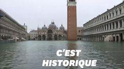 Venise à nouveau sous les eaux, la place Saint-Marc