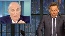 Seth Meyers Reveals 'Weirdest Thing' About Rudy Giuliani's Reported Podcast