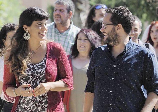 Teresa Rodríguez junto a José Ignacio
