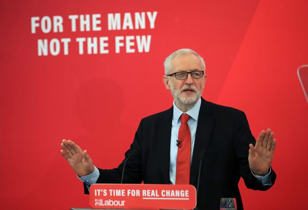 Labour Party leader Jeremy Corbyn speaking in Lancaster, on the General Election campaign