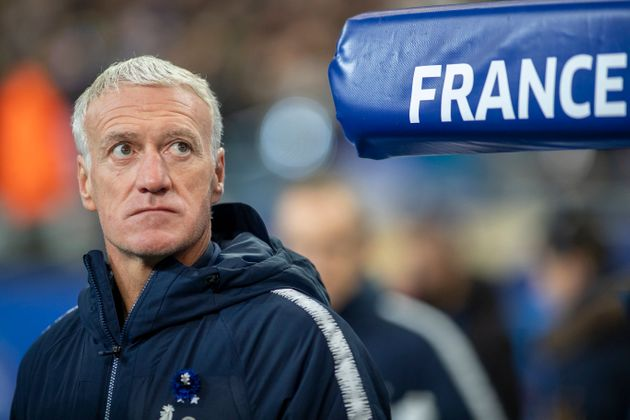Didier Deschamps lors de France-Moldavie au Stade de France le 15 novembre