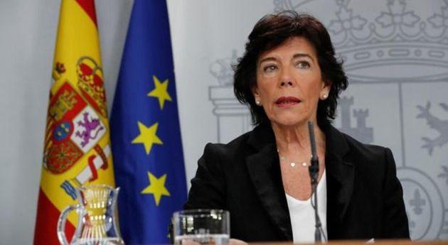 La ministra de Educación, Isabel Celaá, este