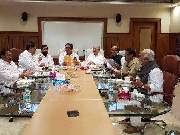 Shiv Sena, NCP and Congress leaders in their first co ordination meeting for government formation in...