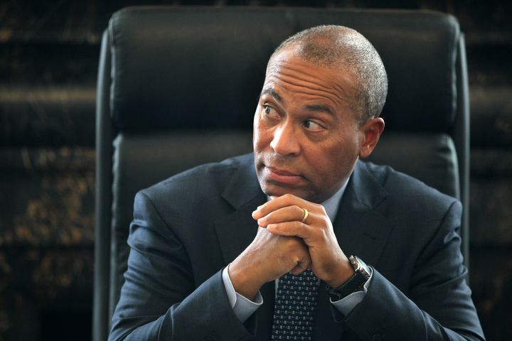 Deval Patrick, seen here in 2013, accused the two officials of threatening the integrity of the Massachusetts Sex Offender Re