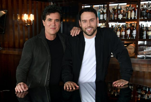 Taylor's former label boss Scott Borchetta with Scooter