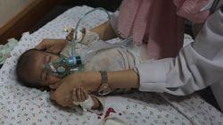 Salvada en los brazos de su hermano muerto: Farah, de 35 días, única superviviente de su familia en un bombardeo en