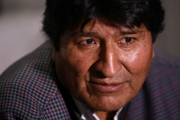Former Bolivian President Evo Morales looks on during an interview with Reuters, in Mexico City, Mexico...