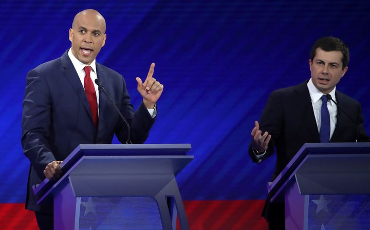 Both Sen. Cory Booker (D-N.J.) and Mayor Pete Buttigieg (D) were Rhodes scholars. But only one frequently has it mentioned in