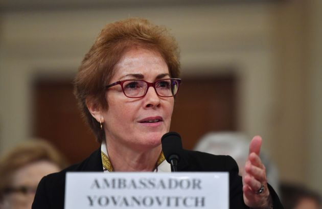 Former US Ambassador to the Ukraine Marie Yovanovitch testifies before the House Permanent Select Committee...