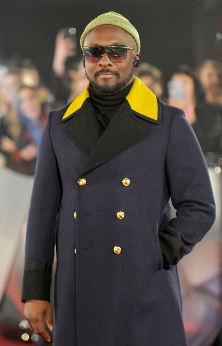 Will.i.am at the red carpet launch for The Voice UK last month