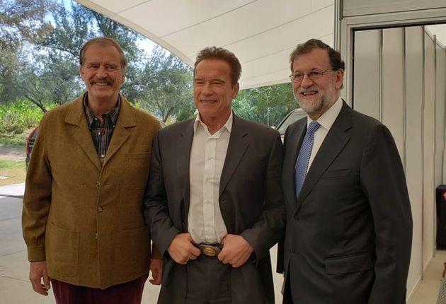 Vicente Fox, Arnold Schwarzenegger y Mariano