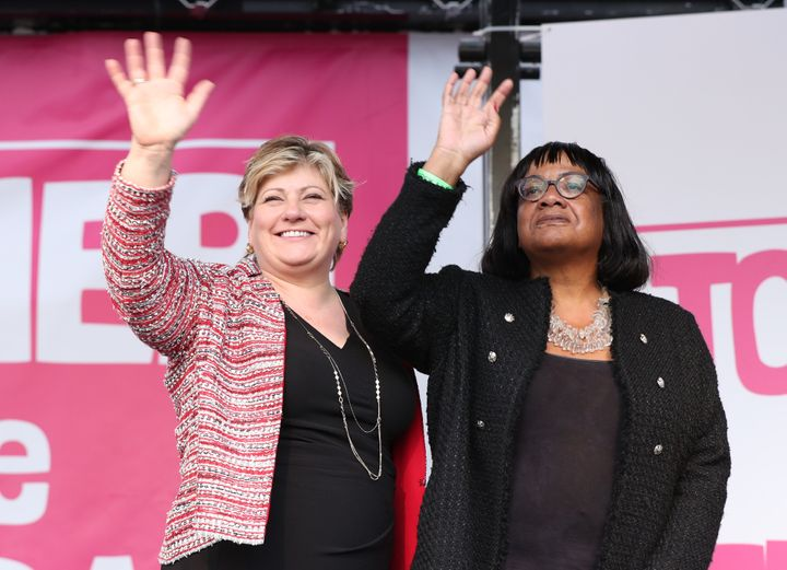 Labour Shadow Cabinet members Emily Thornberry and Diane Abbott.