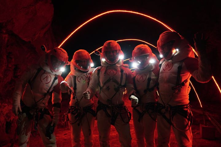 Astrolanders de verdad presumiendo del traje que a mí no me dejaron ponerme.