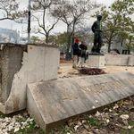 La dégradation du monument du Maréchal Juin lors de l'acte 53