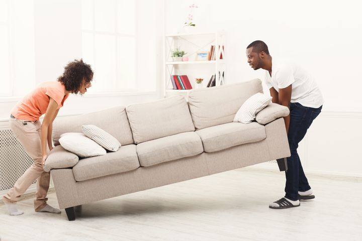 Some people have reported that rearranging furniture gave them feelings of contentment.