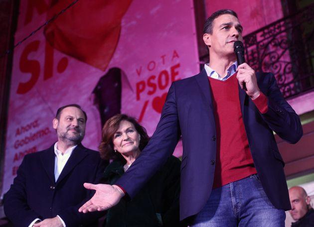 José Luis Ávalos, Carmen Calvo y Pedro