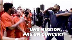Le concert très religieux de Kanye West dans une prison