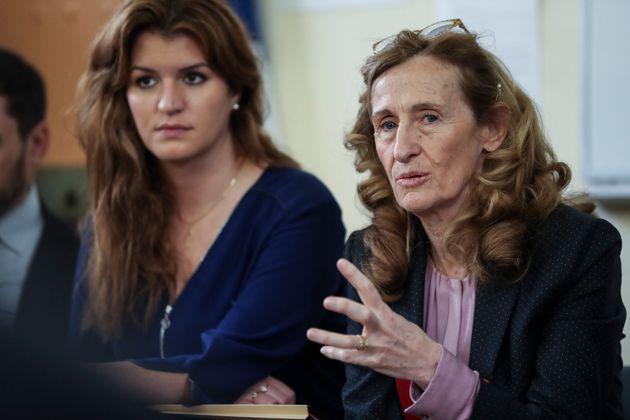 La ministre de la Justice Nicole Belloubet défend, comme sa collègue Marlène Schiappa, la possibilité...