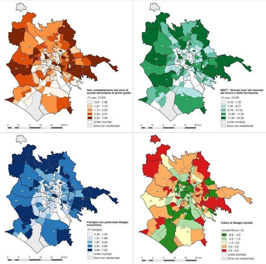 Le mappe dell'esclusione sociale a