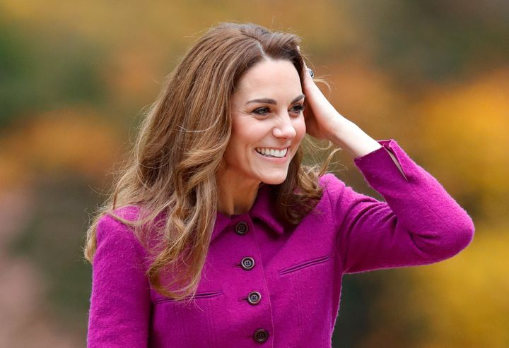 Kate Middleton arrive at 'The Nook' Children's Hospice on Thursday.