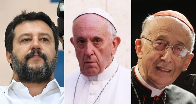 Salvini, Bergoglio,