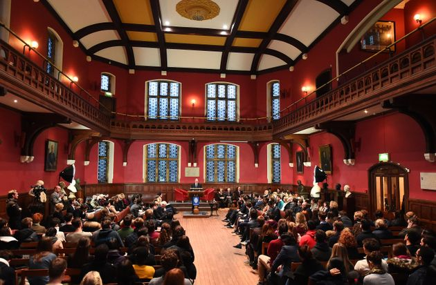 "The Oxford Union, describes itself as the ""world's most prestigious speaker and debating"